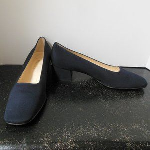 Paloma Navy Heels Made in Italy